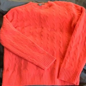 J.Crew  Cashmere in coral red